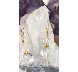 Quartz and Gold Filled Earrings -1