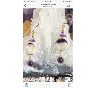 Fluorite Gold Filled Earrings -2