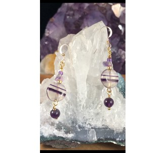 Fluorite Gold Filled Earrings -1