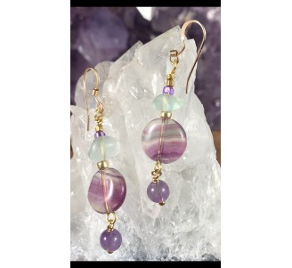 Fluorite Gold Filled Earrings -3